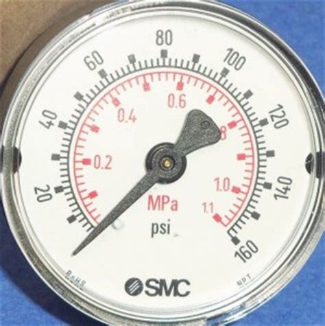 "smc 160psi/mpa 1/4""npt pressure gauge 4274866 rohs nib   ebay"