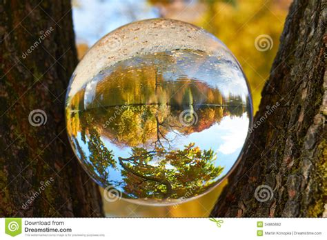 Landscape Pictures With Balls Glass Stock Photo Image Of Clairvoyance Colorful