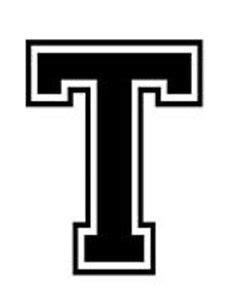 Home Decor Drop Shipping varsity college lettering letter t car tablet vinyl