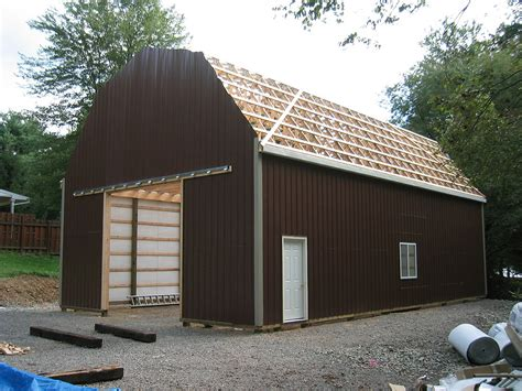 gambrel pole barns gable learn pole barn kits with gambrel roof