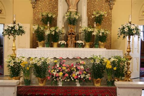 pot plant christmas altar church decorated for easter easter in the south churches easter and decorating