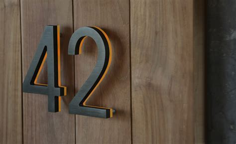 house numbers luxello modern bronze house numbers illuminated