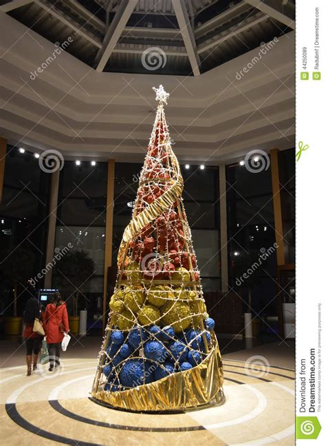 modern christmas tree stock image image of modern decor