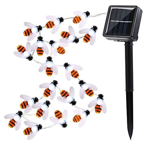 bumble bee string lights icicle solar string lights 20 led bumble bee shape solar