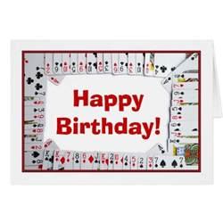 happy birthday bridge card cards zazzle