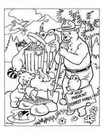 smokey the bear coloring sheet flickr photo sharing