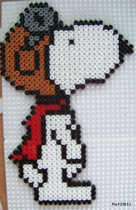 Snoopy Hama Perler Blanket Pattern Ideas