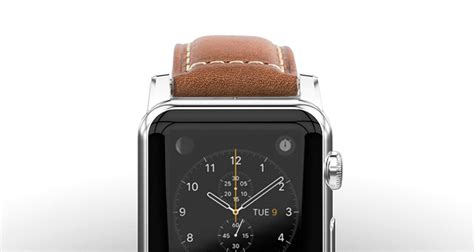Nomad Horween Leather Apple 42mm Traditional Build Silver nomad traditional build horween leather apple