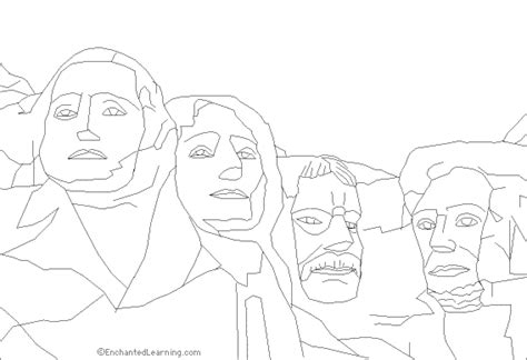 coloring page for mount rushmore mount rushmore coloring printable coloring pages