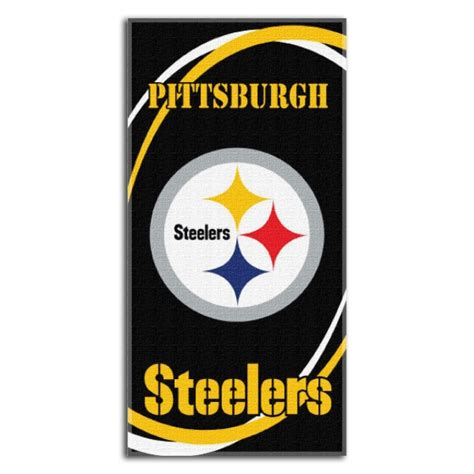 pittsburgh steelers c 30 pittsburgh steelers nfl 30 quot x 60 quot terry towel