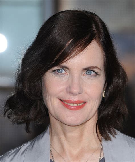 Elizabeth McGovern Medium Wavy Casual Bob Hairstyle (Mocha)
