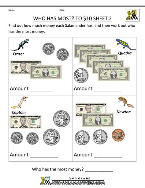 Money Money Money Worksheet by Money Worksheets Money And Worksheets On