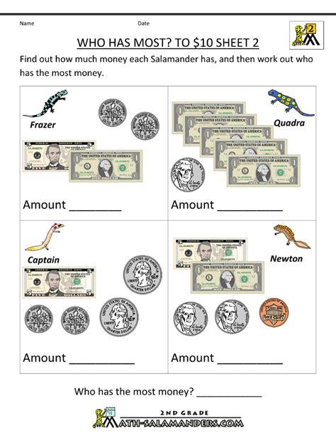 printable worksheet printable money worksheets to 10