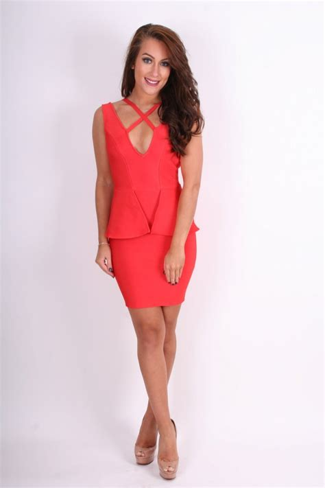 ruby clothing company ruby crossover bandage dress with peplum