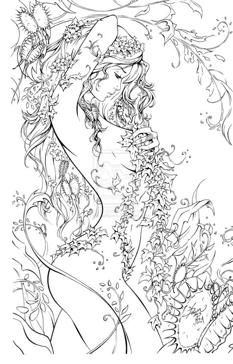 poison ivy cartoon coloring coloring pages