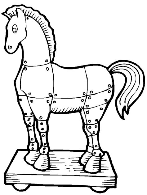 Coloring Page Trojan Horse | trojan horse greek coloring pages coloring book
