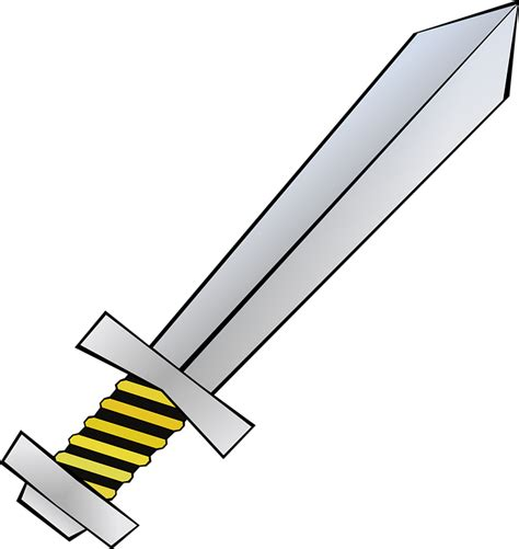 sword clipart free vector graphic sword isolated weapon steel free
