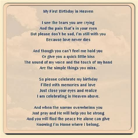 Birthday In Heaven Quotes First Birthday In Heaven Quotes Quotesgram