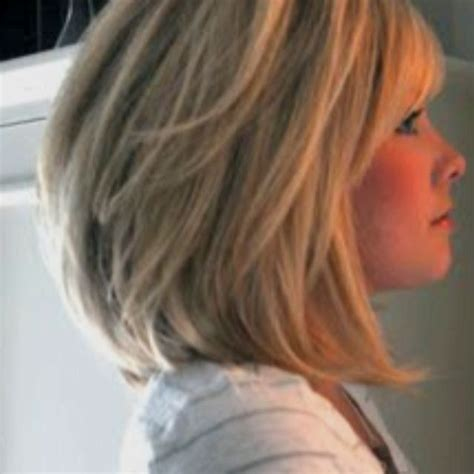 long layered stacked bob medium long stacked bob beauty pinterest