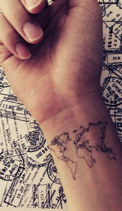 cool little tattoos tiny idea cool map design born to travel 30