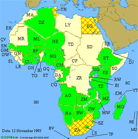 africa map 2003 vintage maps 1991 2003 oafrica