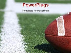 football powerpoint template free american collegiate football on a sports field powerpoint