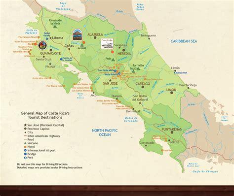 maps costa rica la paz waterfall gardens varablanca costa rica