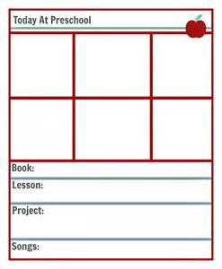 preschool lesson planning template free printables no