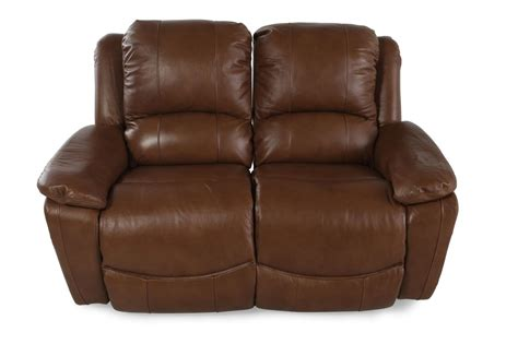 la z boy recliners leather la z boy owen wheat leather reclining loveseat mathis