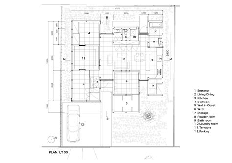stahl house floor plan gallery of n house d i g architects 17
