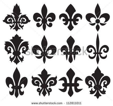 collection of 25 fleur de lis flower design flower heraldic symbol fleur de lis royal