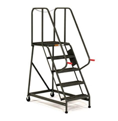 aircraft maintenance step ladders 6 step rolling maintenance mechanics ladders with ezy