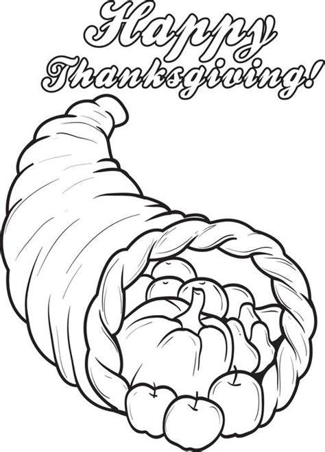cornucopia coloring pages preschool free printable cornucopia thanksgiving coloring page for