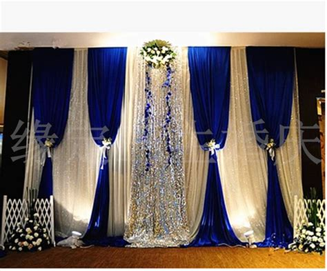 Wedding Backdrop Blue by Free Shipping Royal Blue Wedding Backdrop With Silver