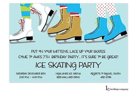 Ice skating party invitation inviting company