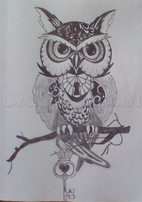 tattoos drawing owl step by step tattoos pop culture free