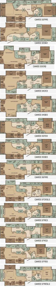 carriage 5th wheel floor plans 2 bedroom 2 bath 5th wheels and travel trailers rv