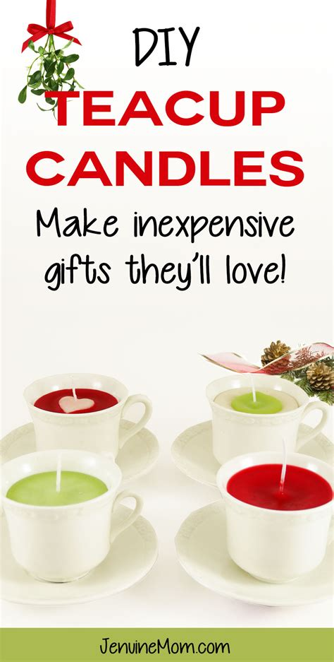 recycled gift ideas diy teacup candles as gifts with recycled candles