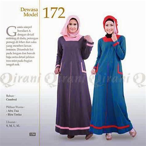 Baju Gamis Qirani Dewasa Model 172 gamis atasan qirani dewasa 2015 diskon s d 30 171 wafiq