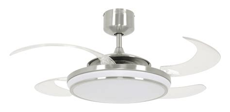 ceiling fan with dimmable light ceiling fan fanaway led evo1 dimmable chrome brushed with