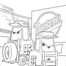 king cars coloring pages chick hicks and the king coloring pages hellokids com