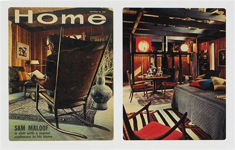 los angeles times home and design 163 sam maloof horn back chairs pair
