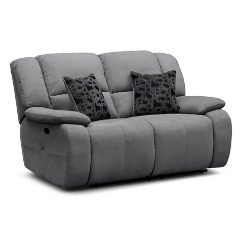 small reclining loveseats gray linen fabric upholstered sofa loveseat with reclining