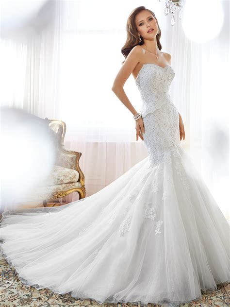 Designer Bridal Dresses by Mermaid Wedding Dress With Sweetheart Neckline And Back Corset