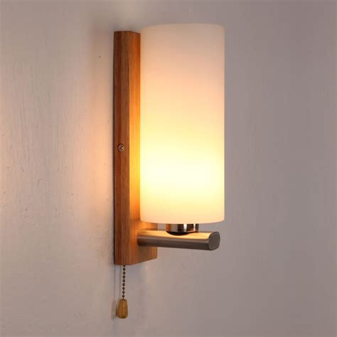 Glass Bedroom Wall Lights Brief Glass Wall L Bed Lighting Bedroom Solid Wood Wall