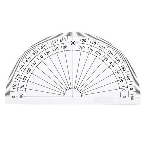 Busur Derajat 1 plastic protractor 180 degrees protractor for angle measurement student math 4 inches