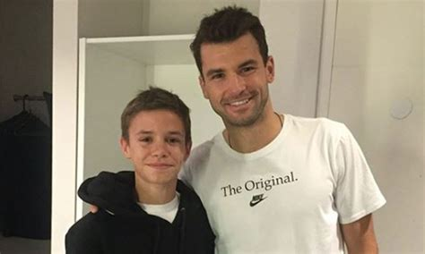 romeo beckham grigor dimitrov romeo beckham pokes fun at brother brooklyn in new