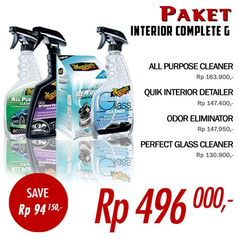 Paket Promo Masterpiece Car Wash Wax Cleaner All In One paket promo meguiar s