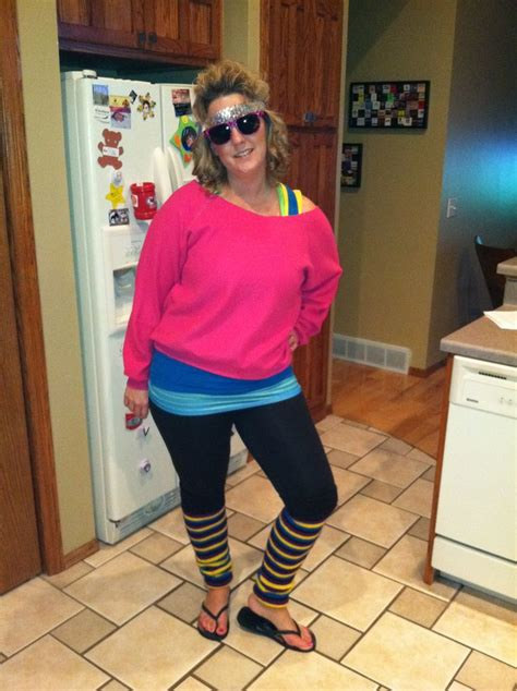 Halloween homemade easy 80's costume all from thrift store