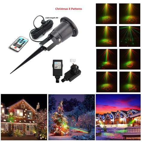 remote control for christmas tree lights laser christmas lights 8 xmas patterns outdoor ir remote